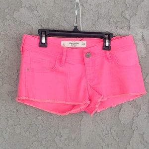 Women's hot pink denim shorts